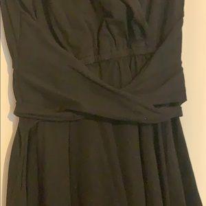 eshakti Dresses - EShakti wrap cotton dress 18w black EUC pockets!